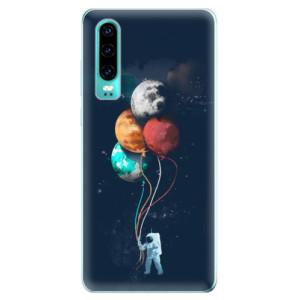 Silikonové odolné pouzdro iSaprio Balónky 02 na mobil Huawei P30