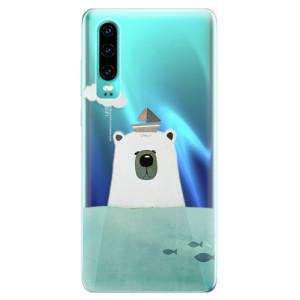 Silikonové odolné pouzdro iSaprio Medvěd s Lodí na mobil Huawei P30
