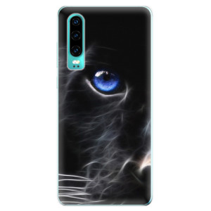 Silikonové odolné pouzdro iSaprio Black Puma na mobil Huawei P30