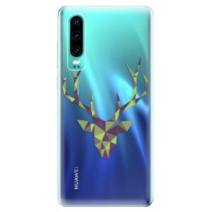 Silikonové odolné pouzdro iSaprio Zelený Jelínek na mobil Huawei P30