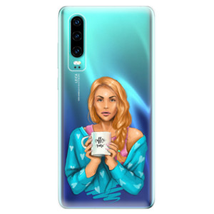 Silikonové odolné pouzdro iSaprio Coffee Now Zrzka na mobil Huawei P30