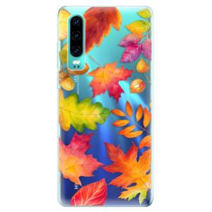 Silikonové odolné pouzdro iSaprio Podzimní Lístečky na mobil Huawei P30