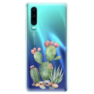 Silikonové odolné pouzdro iSaprio Kaktusy 01 na mobil Huawei P30