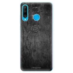 Silikonové odolné pouzdro iSaprio Black Wood 13 na mobil Huawei P30 Lite