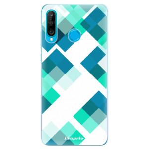 Silikonové odolné pouzdro iSaprio Abstract Squares 11 na mobil Huawei P30 Lite