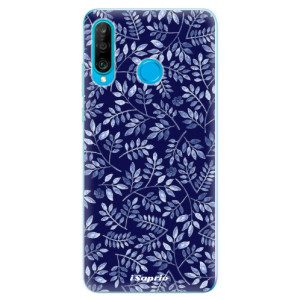 Silikonové odolné pouzdro iSaprio Blue Leaves 05 na mobil Huawei P30 Lite