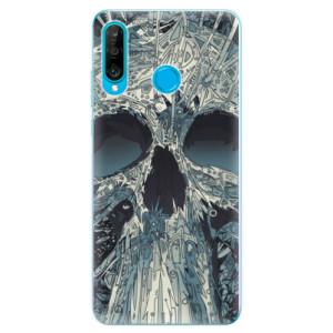 Silikonové odolné pouzdro iSaprio Abstract Skull na mobil Huawei P30 Lite