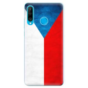 Silikonové odolné pouzdro iSaprio Česká Vlajka na mobil Huawei P30 Lite