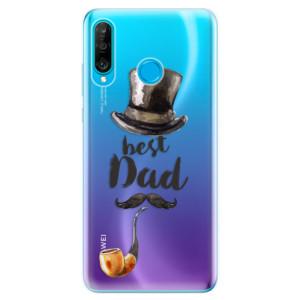 Silikonové odolné pouzdro iSaprio Best Dad na mobil Huawei P30 Lite