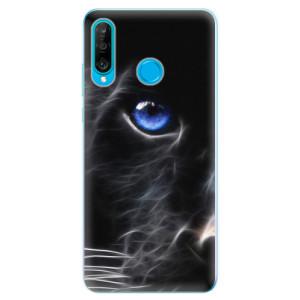 Silikonové odolné pouzdro iSaprio Black Puma na mobil Huawei P30 Lite