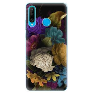 Silikonové odolné pouzdro iSaprio Temné Květy na mobil Huawei P30 Lite