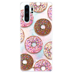 Silikonové odolné pouzdro iSaprio Donutky Všude 11 na mobil Huawei P30 Pro