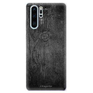Silikonové odolné pouzdro iSaprio Black Wood 13 na mobil Huawei P30 Pro