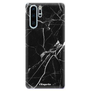 Silikonové odolné pouzdro iSaprio Black Marble 18 na mobil Huawei P30 Pro