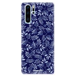 Silikonové odolné pouzdro iSaprio Blue Leaves 05 na mobil Huawei P30 Pro