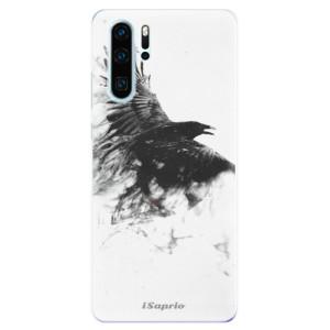 Silikonové odolné pouzdro iSaprio Havran 01 na mobil Huawei P30 Pro