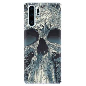 Silikonové odolné pouzdro iSaprio Abstract Skull na mobil Huawei P30 Pro