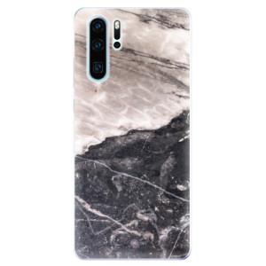 Silikonové odolné pouzdro iSaprio BW Mramor na mobil Huawei P30 Pro