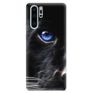 Silikonové odolné pouzdro iSaprio Black Puma na mobil Huawei P30 Pro