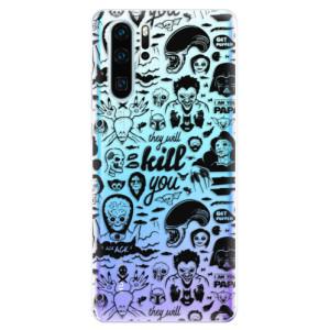 Silikonové odolné pouzdro iSaprio Komiks 01 black na mobil Huawei P30 Pro