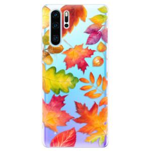 Silikonové odolné pouzdro iSaprio Podzimní Lístečky na mobil Huawei P30 Pro