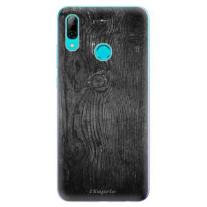 Silikonové odolné pouzdro iSaprio Black Wood 13 na mobil Huawei P Smart 2019