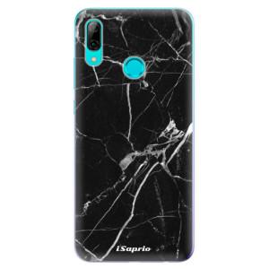 Silikonové odolné pouzdro iSaprio Black Marble 18 na mobil Huawei P Smart 2019