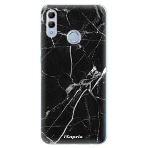 Silikonové odolné pouzdro iSaprio Black Marble 18 na mobil Honor 10 Lite
