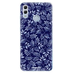 Silikonové odolné pouzdro iSaprio Blue Leaves 05 na mobil Honor 10 Lite