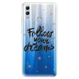 Silikonové odolné pouzdro iSaprio Follow Your Dreams černý na mobil Honor 10 Lite