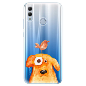 Silikonové odolné pouzdro iSaprio Pejsek a Ptáček na mobil Honor 10 Lite