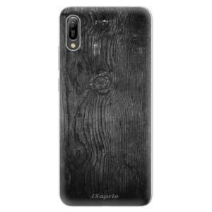 Silikonové odolné pouzdro iSaprio Black Wood 13 na mobil Huawei Y6 2019