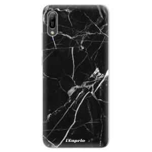 Silikonové odolné pouzdro iSaprio Black Marble 18 na mobil Huawei Y6 2019