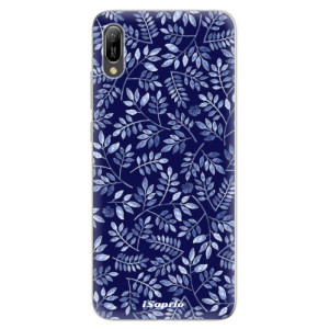 Silikonové odolné pouzdro iSaprio Blue Leaves 05 na mobil Huawei Y6 2019