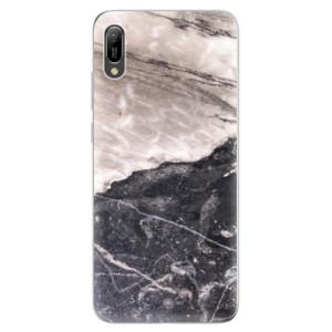 Silikonové odolné pouzdro iSaprio BW Mramor na mobil Huawei Y6 2019