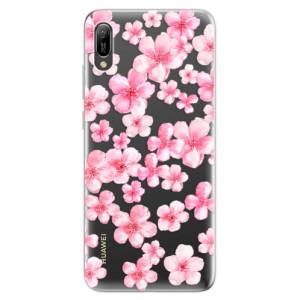 Silikonové odolné pouzdro iSaprio Malé Růžové Květy 05 na mobil Huawei Y6 2019