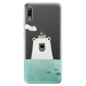 Silikonové odolné pouzdro iSaprio Medvěd s Lodí na mobil Huawei Y6 2019