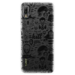 Silikonové odolné pouzdro iSaprio Komiks 01 black na mobil Huawei Y6 2019