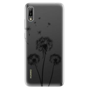 Silikonové odolné pouzdro iSaprio Tři Černé Pampelišky na mobil Huawei Y6 2019