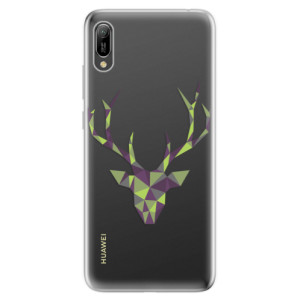 Silikonové odolné pouzdro iSaprio Zelený Jelínek na mobil Huawei Y6 2019