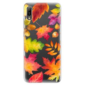 Silikonové odolné pouzdro iSaprio Podzimní Lístečky na mobil Huawei Y6 2019