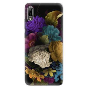 Silikonové odolné pouzdro iSaprio Temné Květy na mobil Huawei Y6 2019