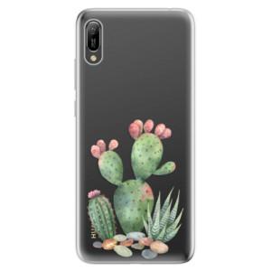 Silikonové odolné pouzdro iSaprio Kaktusy 01 na mobil Huawei Y6 2019