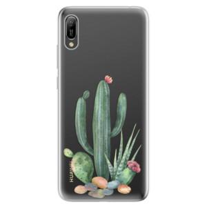 Silikonové odolné pouzdro iSaprio Kaktusy 02 na mobil Huawei Y6 2019