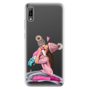 Silikonové odolné pouzdro iSaprio Kissing Mom Brunette and Girl na mobil Huawei Y6 2019
