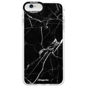 Silikonové pouzdro Bumper iSaprio Black Marble 18 na mobil Apple iPhone 6/6S