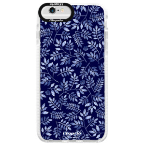 Silikonové pouzdro Bumper iSaprio Blue Leaves 05 na mobil Apple iPhone 6/6S