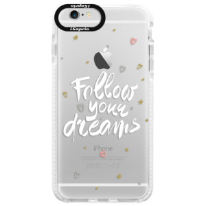 Silikonové pouzdro Bumper iSaprio Follow Your Dreams white na mobil Apple iPhone 6/6S