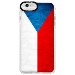 Silikonové pouzdro Bumper iSaprio Czech Flag na mobil Apple iPhone 6/6S