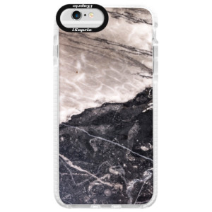 Silikonové pouzdro Bumper iSaprio BW Marble na mobil Apple iPhone 6/6S